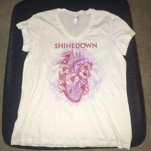 Tops - Shinedown  Women's 2x Vneck concert tee.Never worn